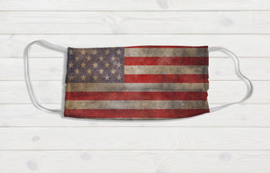 Retro American Flag Face Mask - Potter's Printing