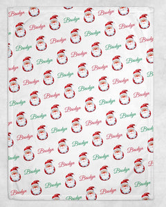 Santa Personalized Blanket