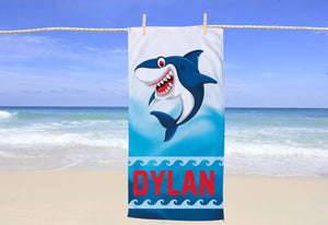 Shark Personalized Beach Towel - Potter's Printing