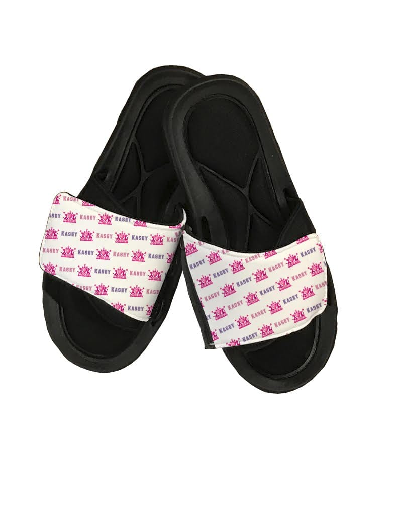 I Love Cheer Personalized Slide Sandals - Potter's Printing