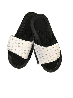 Flamingo Personalized Slide Sandals - Potter's Printing