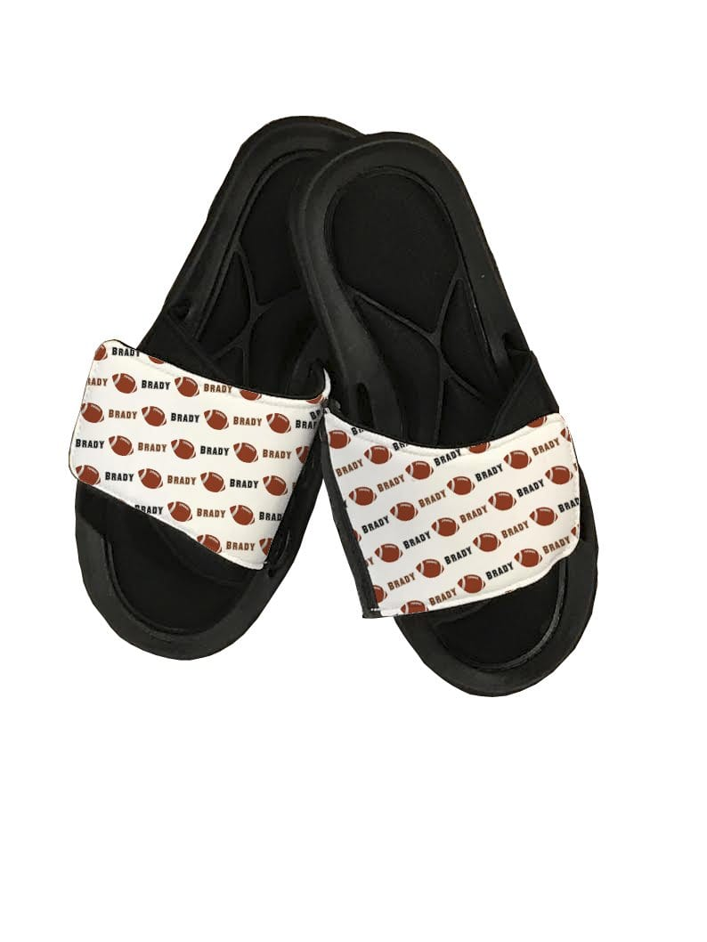 Football Personalized Slide Sandals - Potter's Printing