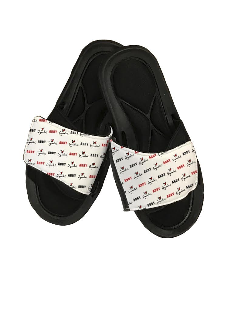 I Love Gymnastics Personalized Slide Sandals - Potter's Printing