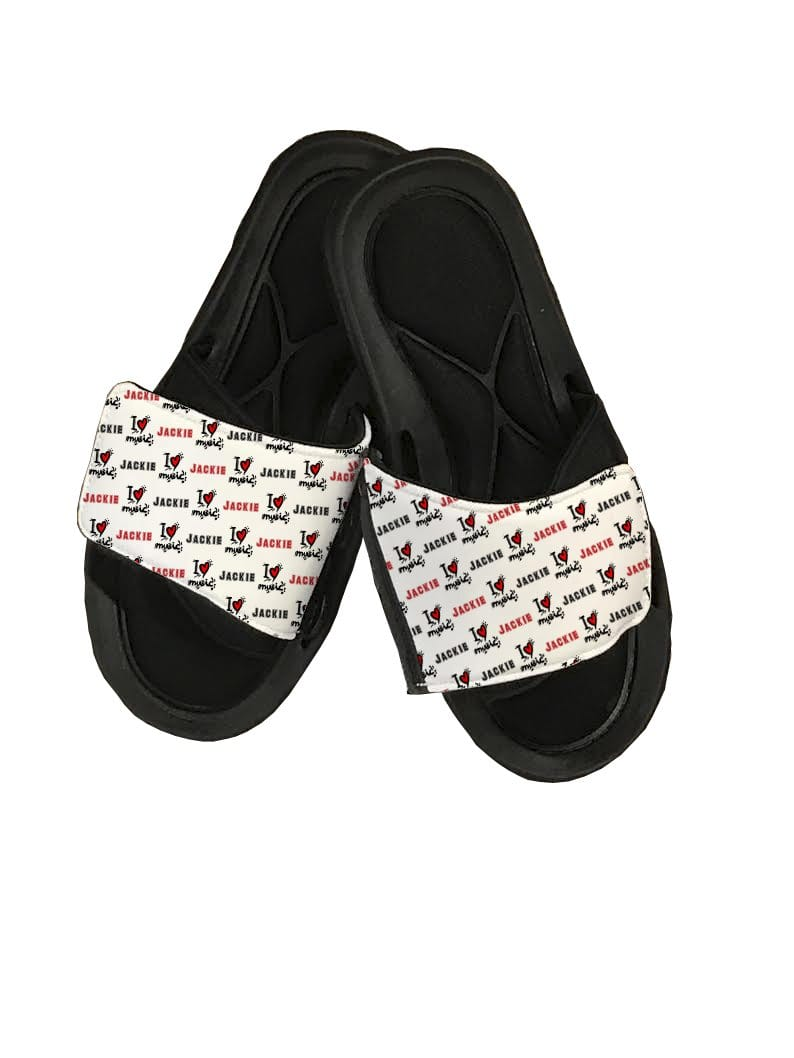 I Love Music Personalized Slide Sandals - Potter's Printing