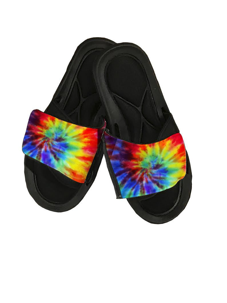 Tie Dye Slide Sandals - Potter's Printing