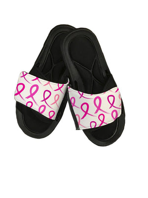 Cancer Ribbon Slide Sandals - Potter's Printing