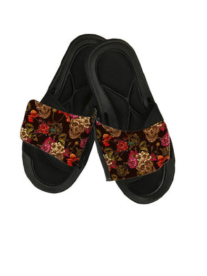 Roses and Skulls Sandal Slides - Potter's Printing