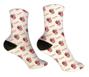 Sloth Personalized Valentine Socks - Potter's Printing