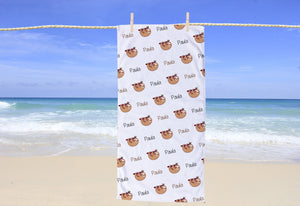 Sloth Personalized Beach Towel - Potter's Printing