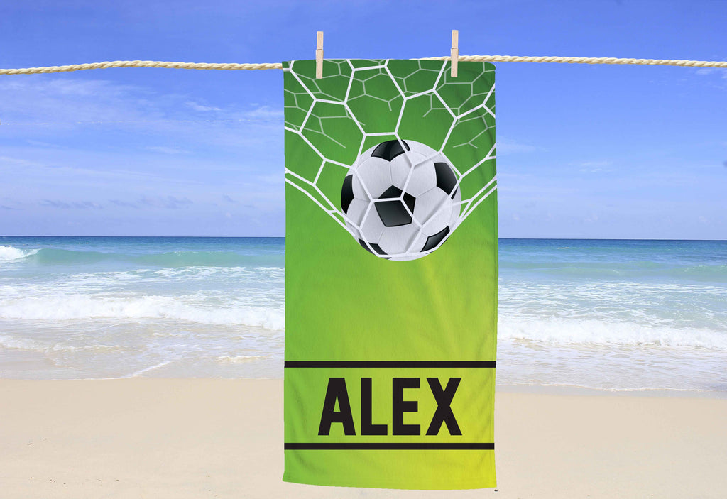 Soccer Personalized Beach Towel - Potter's Printing