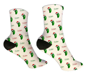 Christmas Pickle Personalized Socks - Potter's Printing