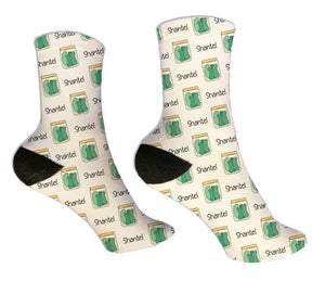 Pickle Jar Personalized Socks - Potter's Printing