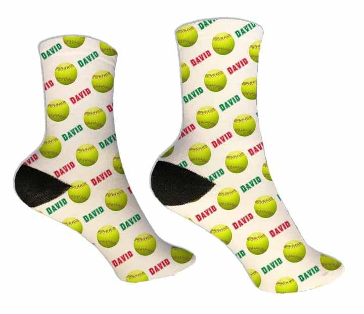 Softball Personalized Socks - Potter's Printing