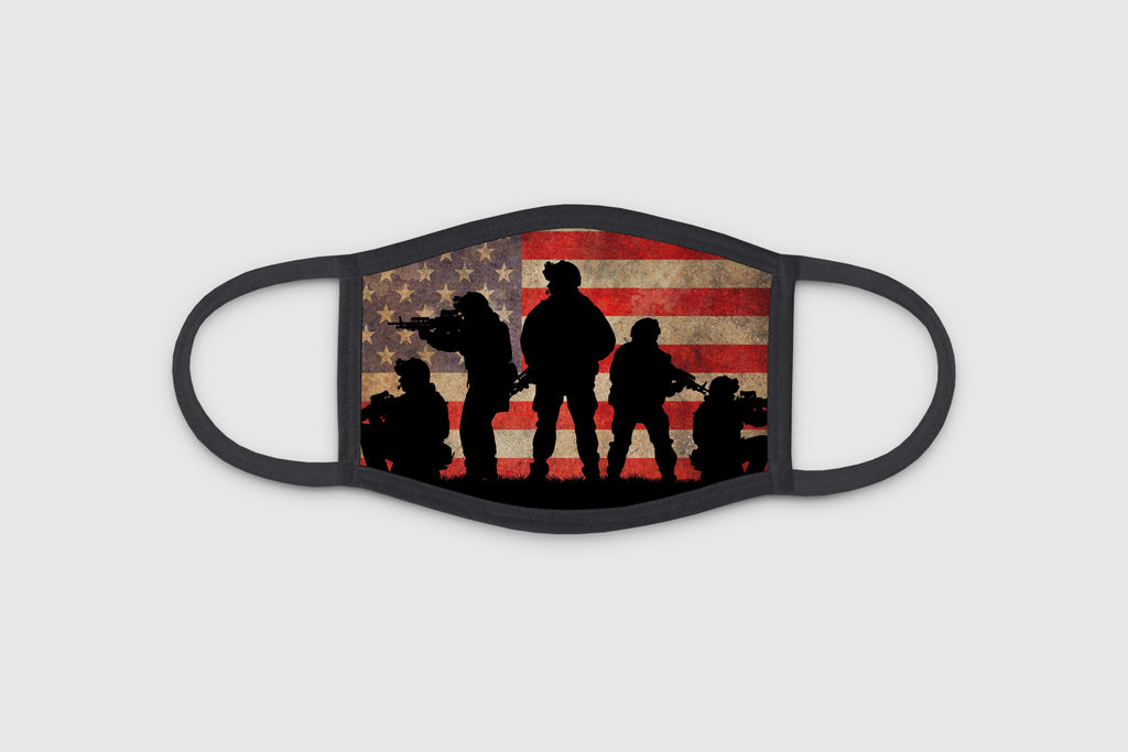 Soldier Flag 3 Ply Face Mask