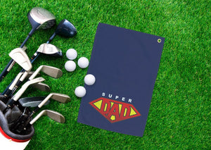 Super Dad Golf Towel