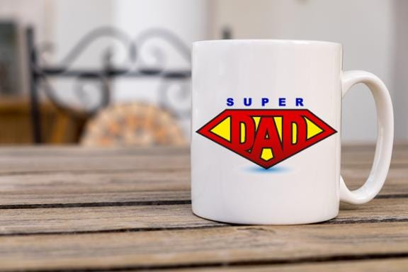 Super Dad Coffee Mug - Potter's Printing