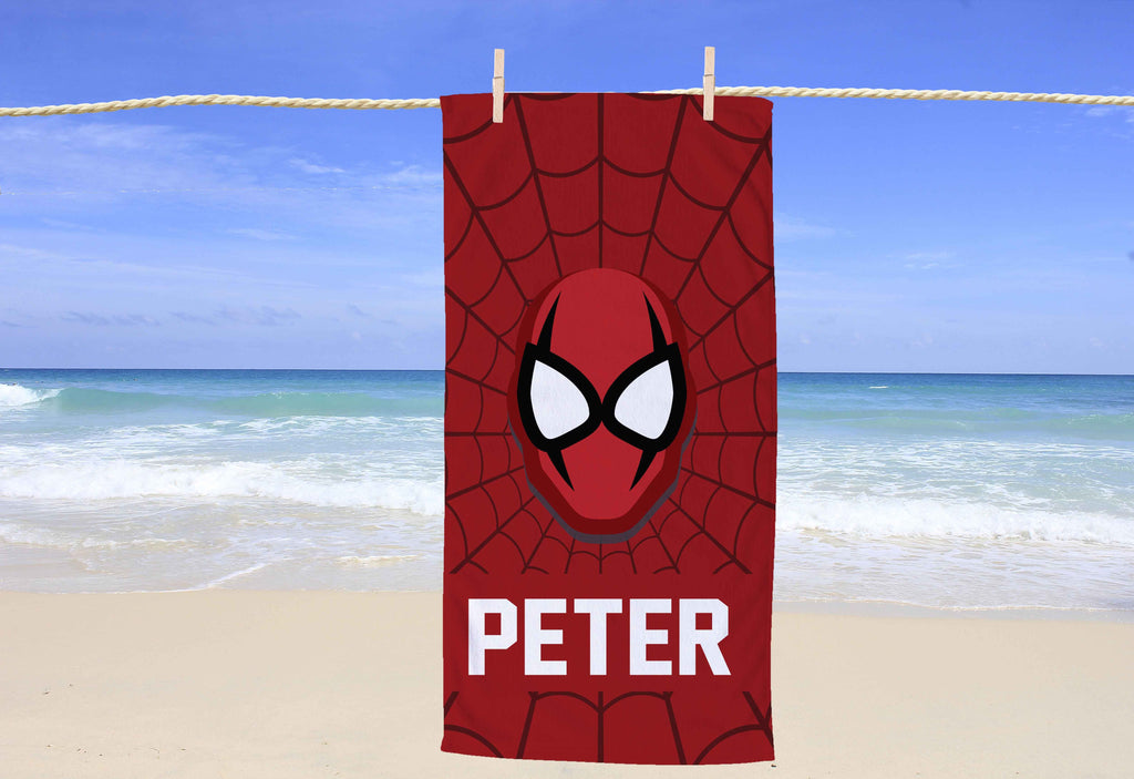Superhero Personalized Beach Towel - Potter's Printing