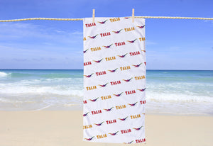 Swimming Personalized Beach Towel - Potter's Printing