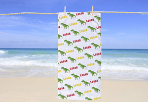 TRex Personalized Beach Towel - Potter's Printing
