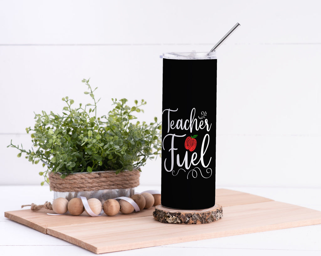 Teacher Fuel Stainless Steel Tumbler - Potter's Printing
