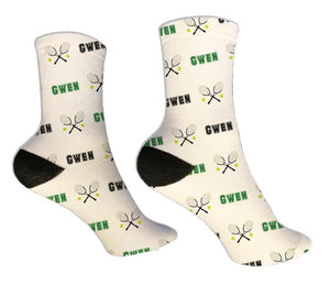 Tennis Personalized Socks - Potter's Printing