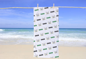 Tennis Personalized Beach Towel - Potter's Printing