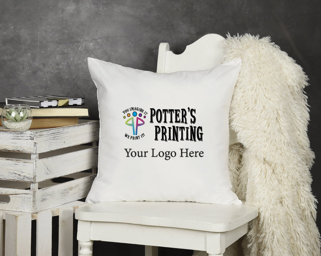 Custom Logo Throw Pillow - Potter's Printing