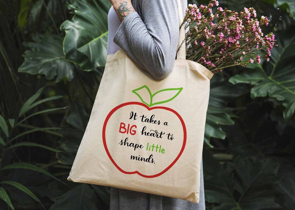 It Takes a Big Heart to Shape Little Minds Tote Bag - Potter's Printing
