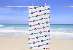 Track & Field Personalized Beach Towel - Potter's Printing