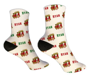 Christmas Train Personalized Socks - Potter's Printing