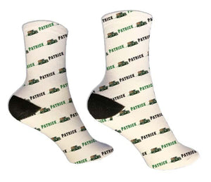 Truck Personalized St. Patrick's Day Socks - Potter's Printing