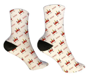Unicorn Crown Personalized Valentine Socks - Potter's Printing