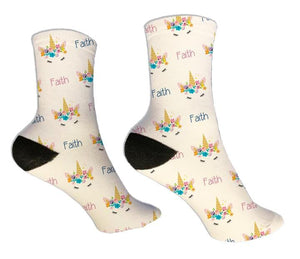 Unicorn Personalized Socks - Potter's Printing