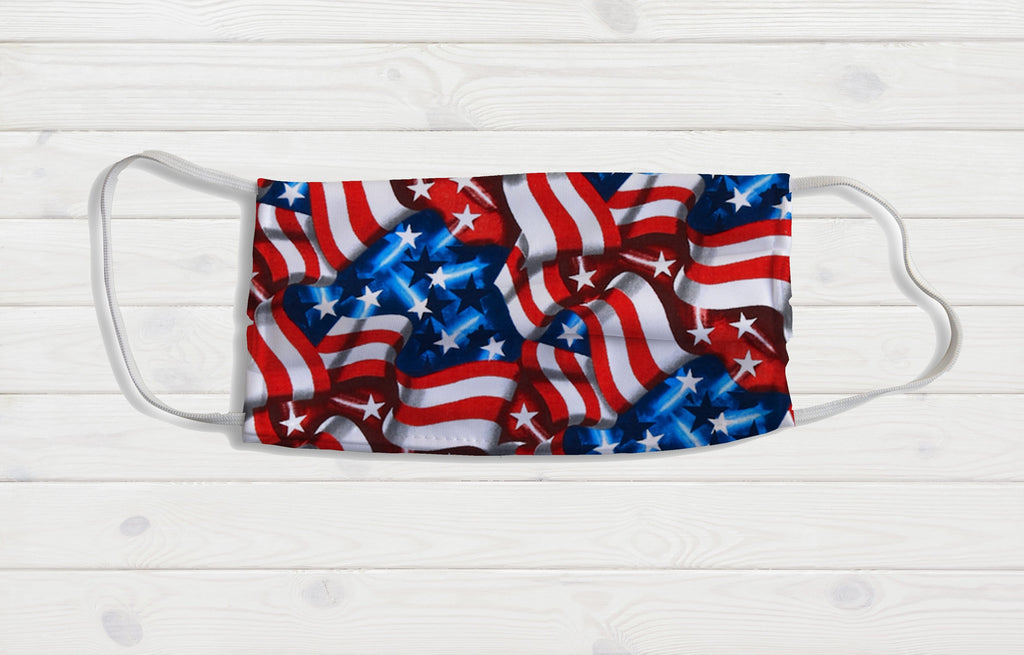 American Flag Face Mask - Potter's Printing