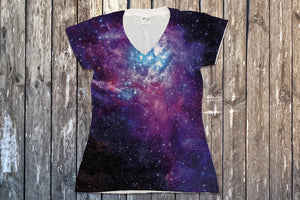 Galaxy V Neck Tee - Potter's Printing