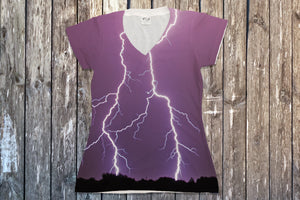 Lightning V Neck Tee - Potter's Printing