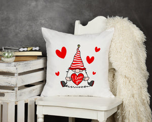 Valentine Gnome Throw Pillow - Potter's Printing