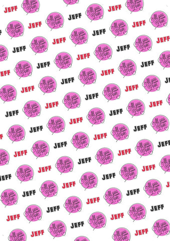 10th Birthday Personalized Birthday Gift Wrap