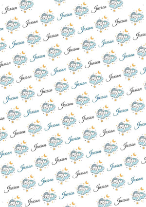 Baby Boy Bear Personalized Baby Shower Tissue Paper - Potter's Printing