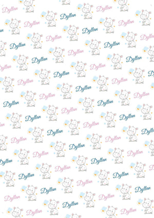 Hippopotamus Personalized Baby Shower Tissue Paper - Potter's Printing