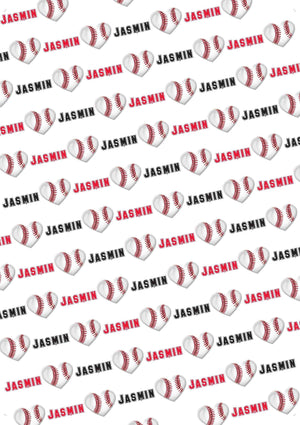 Baseball Personalized Valentine Gift Wrap - Potter's Printing