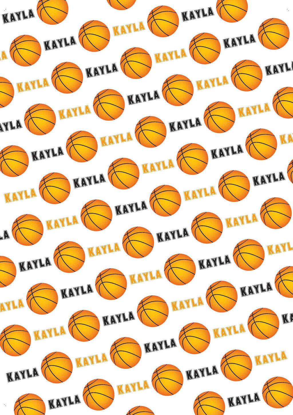 Basketball Personalized Gift Wrap - Potter's Printing