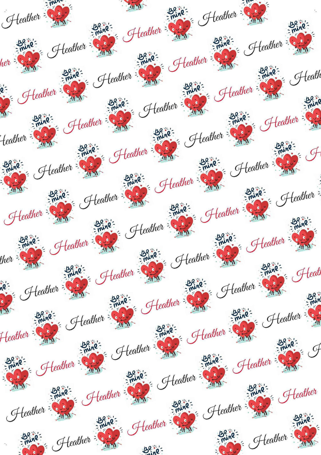 Be Mine Personalized Valentine Gift Wrap - Potter's Printing