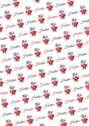 Personalized Valentine Gift Wrap Bundle - Potter's Printing