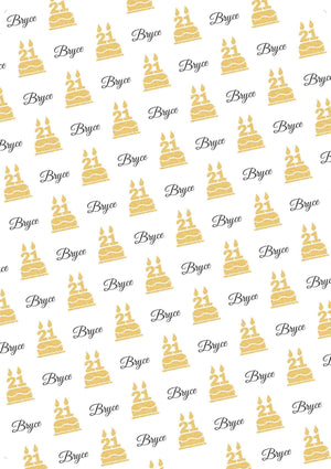21st Birthday Glitter Personalized Birthday Gift Wrap - Potter's Printing