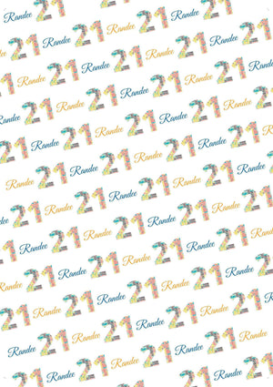 Personalized Birthday Number Gift Wrap Bundle - Potter's Printing