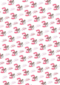 3rd Birthday Koala Personalized Birthday Gift Wrap - Potter's Printing