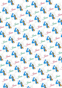 4th Birthday Giraffe Personalized Birthday Tissue Paper - Potter's Printing