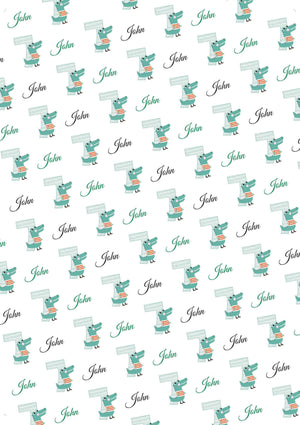 7th Birthday Alligator Personalized Birthday Gift Wrap - Potter's Printing