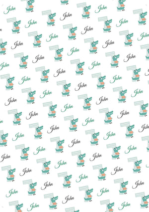 7th Birthday Alligator Personalized Birthday Tissue Paper - Potter's Printing